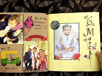 "Baby Girl ""First Year"" Handmade Scrapbook"