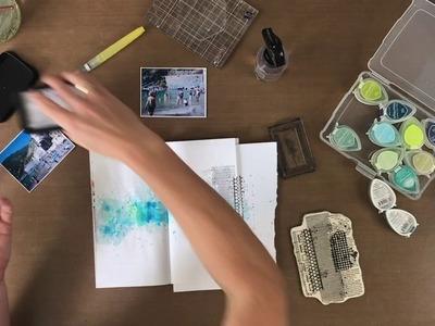 Birgit Koopsen (Design team) Scrapbooking layout in travelers notebook