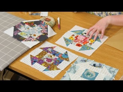 Churn Dash patchwork block part 2 with Carolyn Forster (taster video)