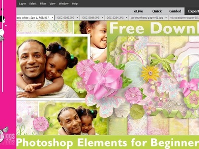 Digital Scrapbooking Tutorial For Beginners With Photoshop Elements 14