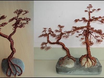 DIY-Art Attack |2.2 Copper bonsai Tree using Wire & stone.