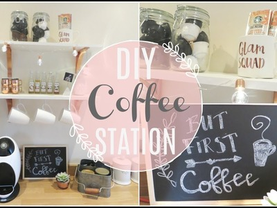 DIY COFFEE STATION | PINTEREST INSPIRED