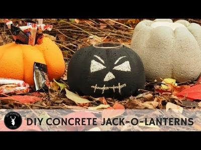 DIY Concrete jack-o-lantern