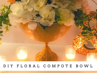 DIY Floral Compote Bowl | $2 and Below