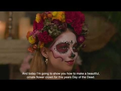 DIY Flowercrown for Day of the Dead