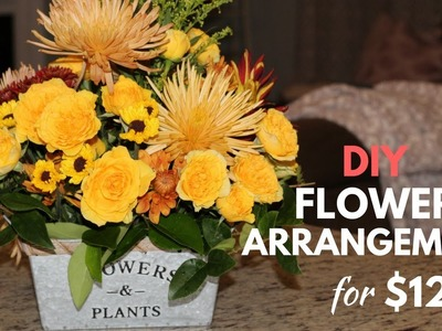 DIY GROCERY STORE FLOWER ARRANGEMENT FOR $12!