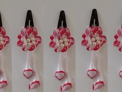 DIY hanging satin ribbon tic tac hair clips for kids   kids satin ribbon hairclip