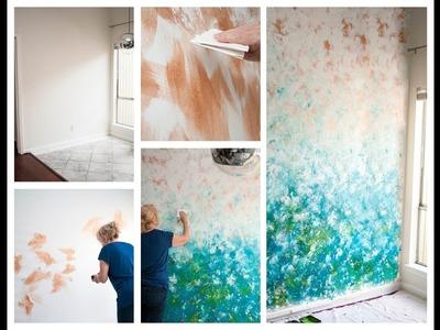DIY Home Decor: Faux Finish Wall