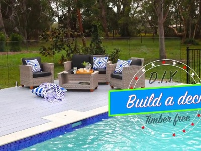 DIY How to build a deck. Timber free!