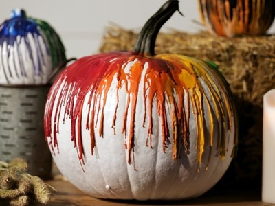 DIY No-Carve Crayon Pumpkin for Halloween
