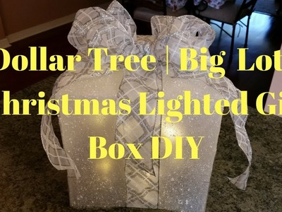 Dollar Tree | Big Lot's Christmas Lighted Gift Box DIY