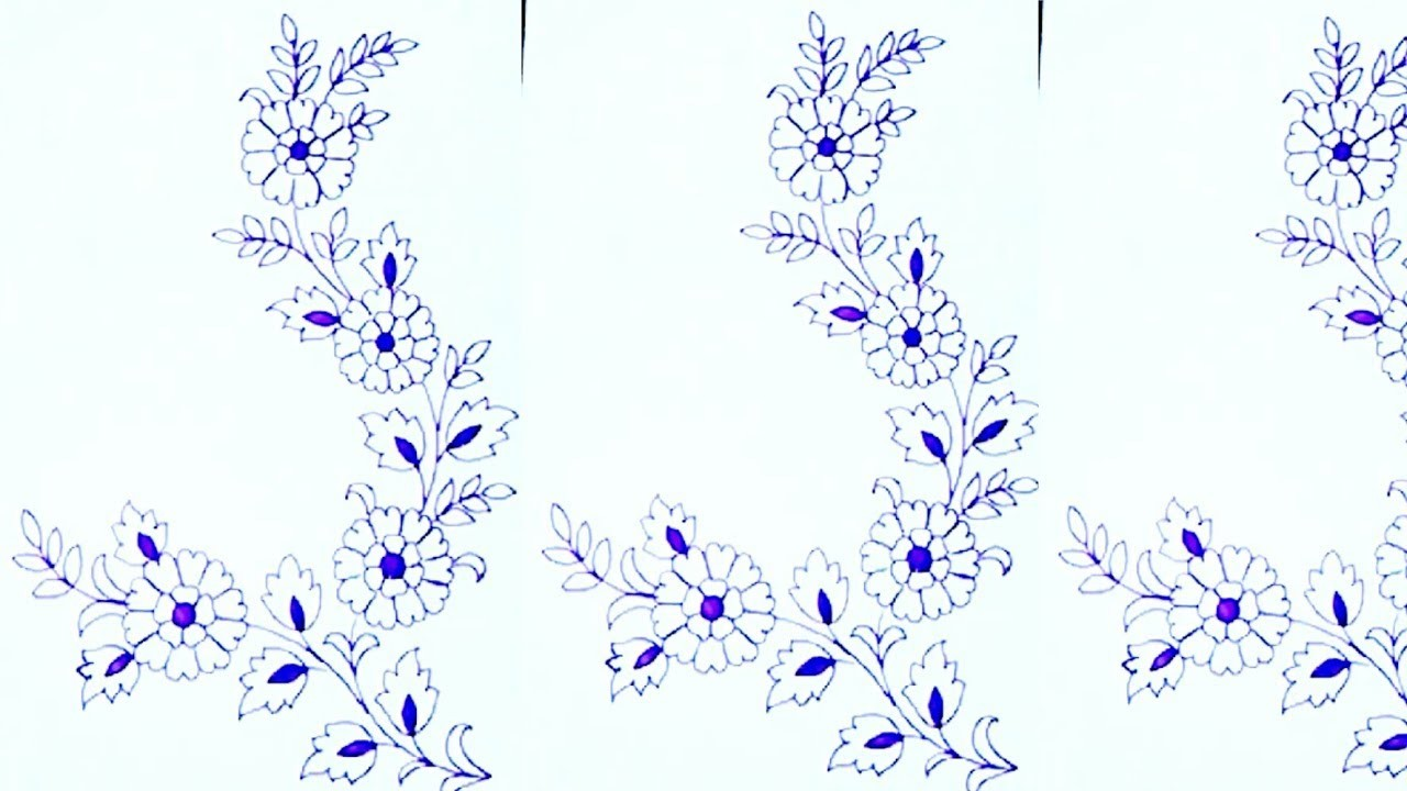 how to draw floral designs