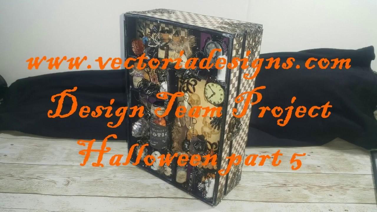 Halloween Scrapbook Mini Album Shadowbox VectoriaDesigns ( Design team project ) part 5