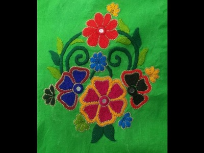 Hand Embroidery :Bharwan design.the house stitch