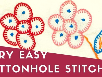 Hand Embroidery | Blanket Stitch | Buttonhole Stitch