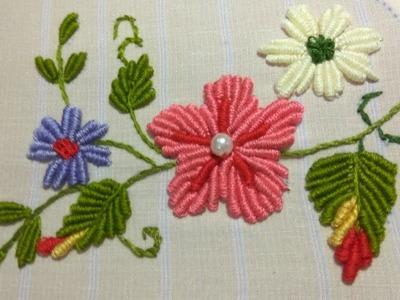 Hand Embroidery | Bullion Knot Stitch | French Knot