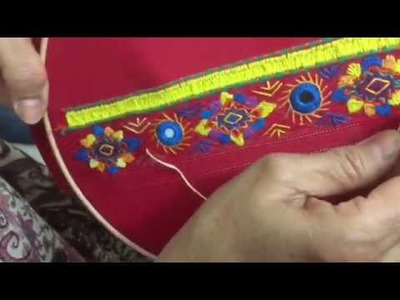Hand Embroidery easy stitch how to make Balochi stitch designs