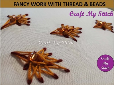 Hand Embroidery | Fancy stitches with Thread n Beads - CMS 17 07
