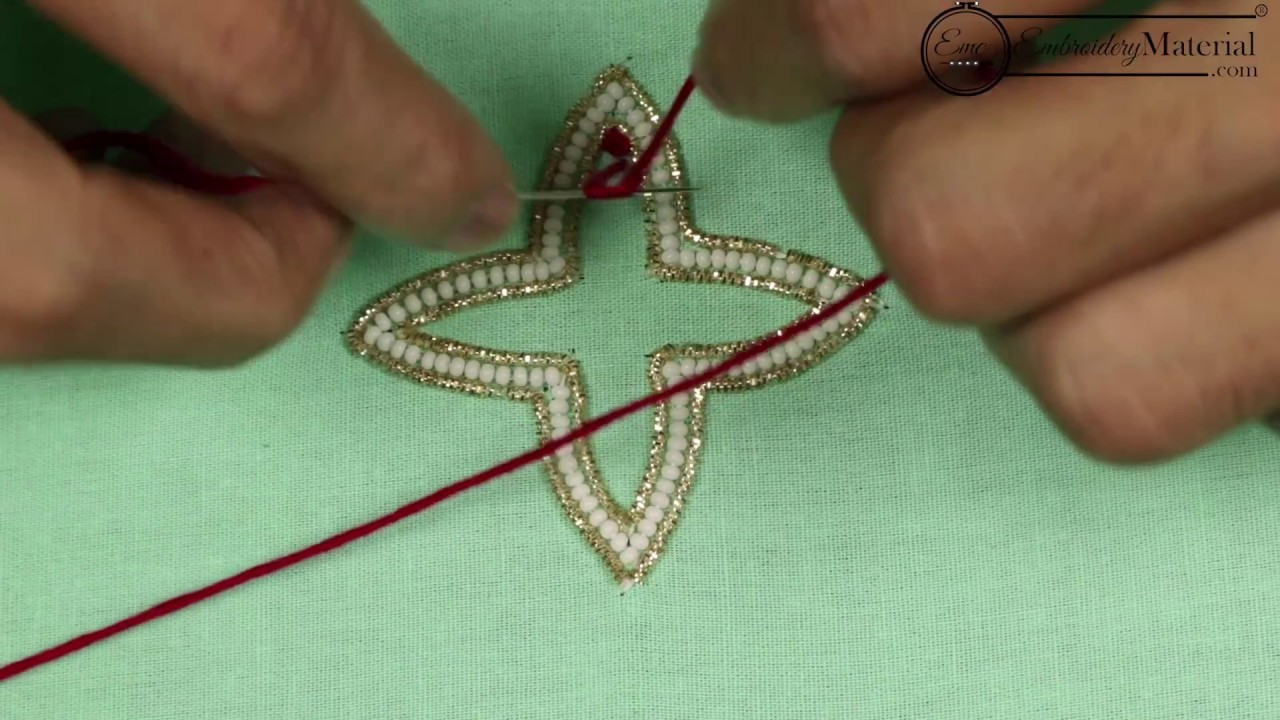 Hand embroidery flower design for beginners french knot
