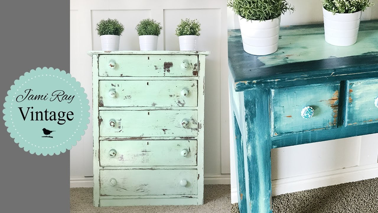 How To Do Chippy and Bohemian Paint Techniques With DIY Paint