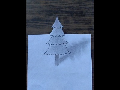 How To Draw Pine Tree 3D Quick Simple And Easy With pencil