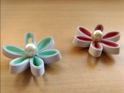 How to make beautiful 3d quilling flower without tools