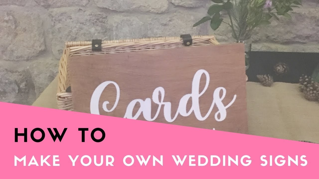 How To Make Your Own Wooden Wedding Sign Diy Wedding