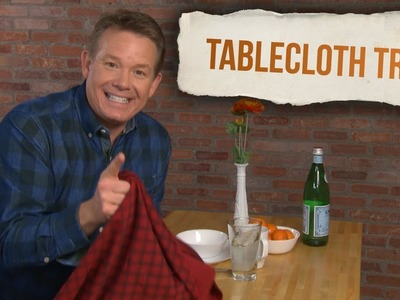 Learn the Famous Tablecloth Trick   Xploration DIY SCI