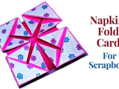 Napkin Fold Card for Scrapbook    Scrapbooking Cards    Cardmaking    Craftastic