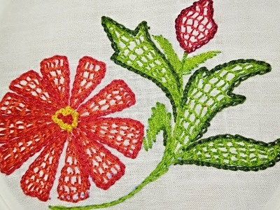 Net Stitch - Filling Stitch design for cushion cover | Hand Embroidery