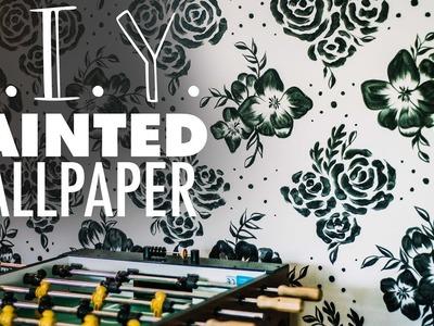 Painted Floral Wallpaper DIY