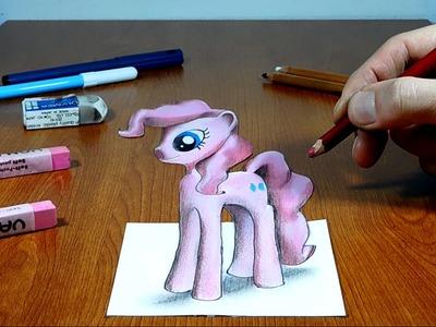 Pinkie Pie, 3D Trick Art on Paper, Long Version