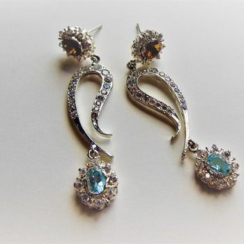 Ruby and Topaz Earrings/Valentines Day/Gift for her
