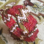 Bold Bangle Beaded Bracelet