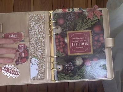 Christmas Planner Set Up | 2017 Holiday Binder