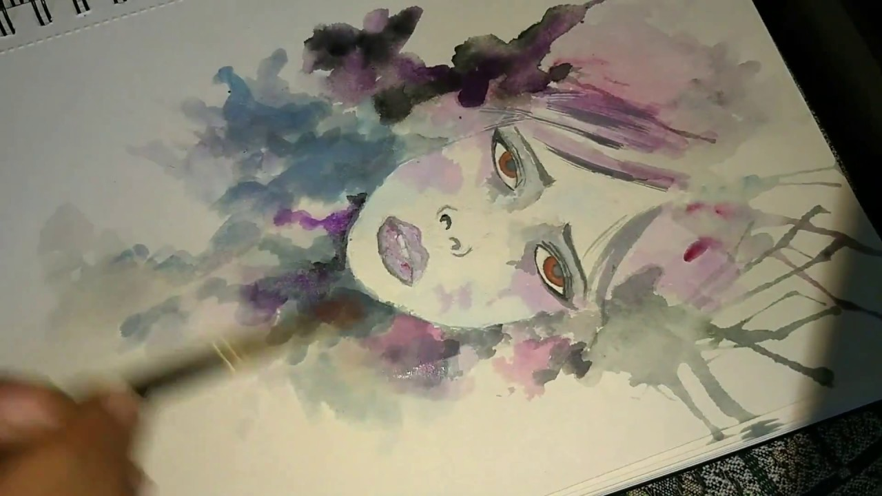 Creative Art Drawing Multiple Colour Exposure Painting With Face