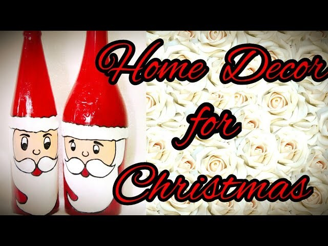 DIY HOME DECOR | BOTTLE PAINTING | CHRISTMAS | my favourite works
