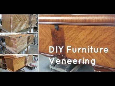 DIY How To Repair Furniture |  Wood Furniture Veneering Techniques