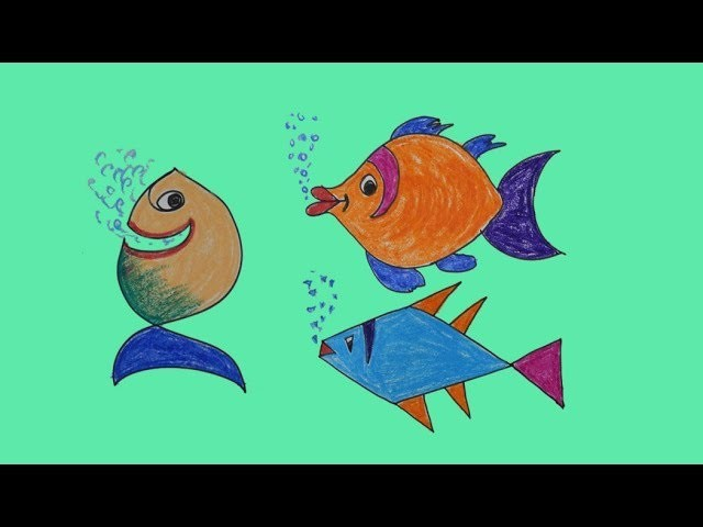 Easy Drawings For Kids Fish Drawing And Colour 3 Drawing Ideas