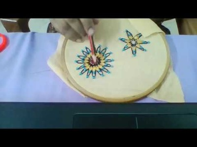 Hand Embroidery|Double Daisy with beads