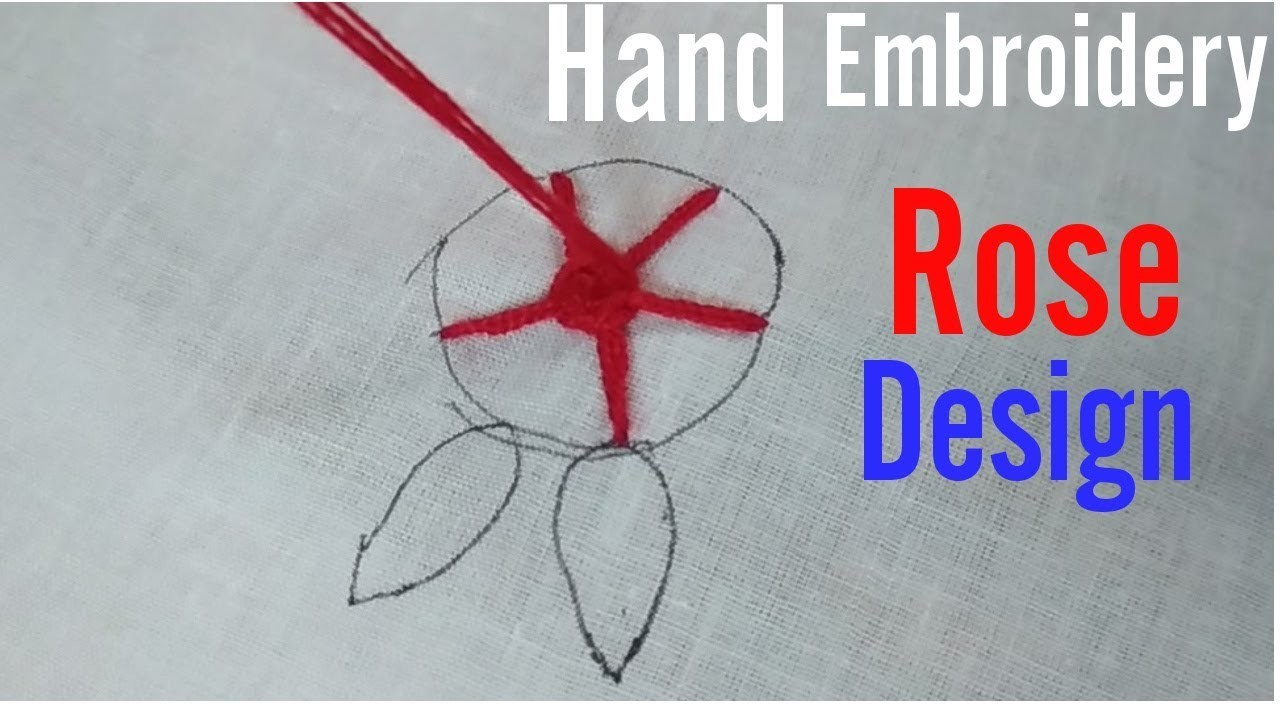 Hand embroidery rose design for beginners stitch