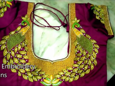 Hand embroidery stitches for beginners | zardosi work tutorial for beginners | hand embroidery
