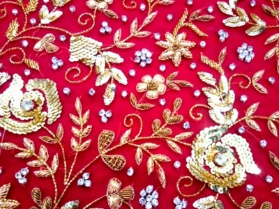 Hand Embroidery : Zardosi Embroidery Work