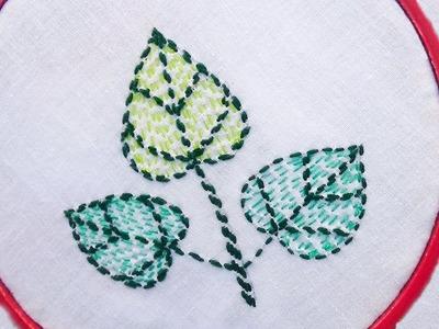 Hand stitch - Traditional Nakshi katha stitch. Leaf design