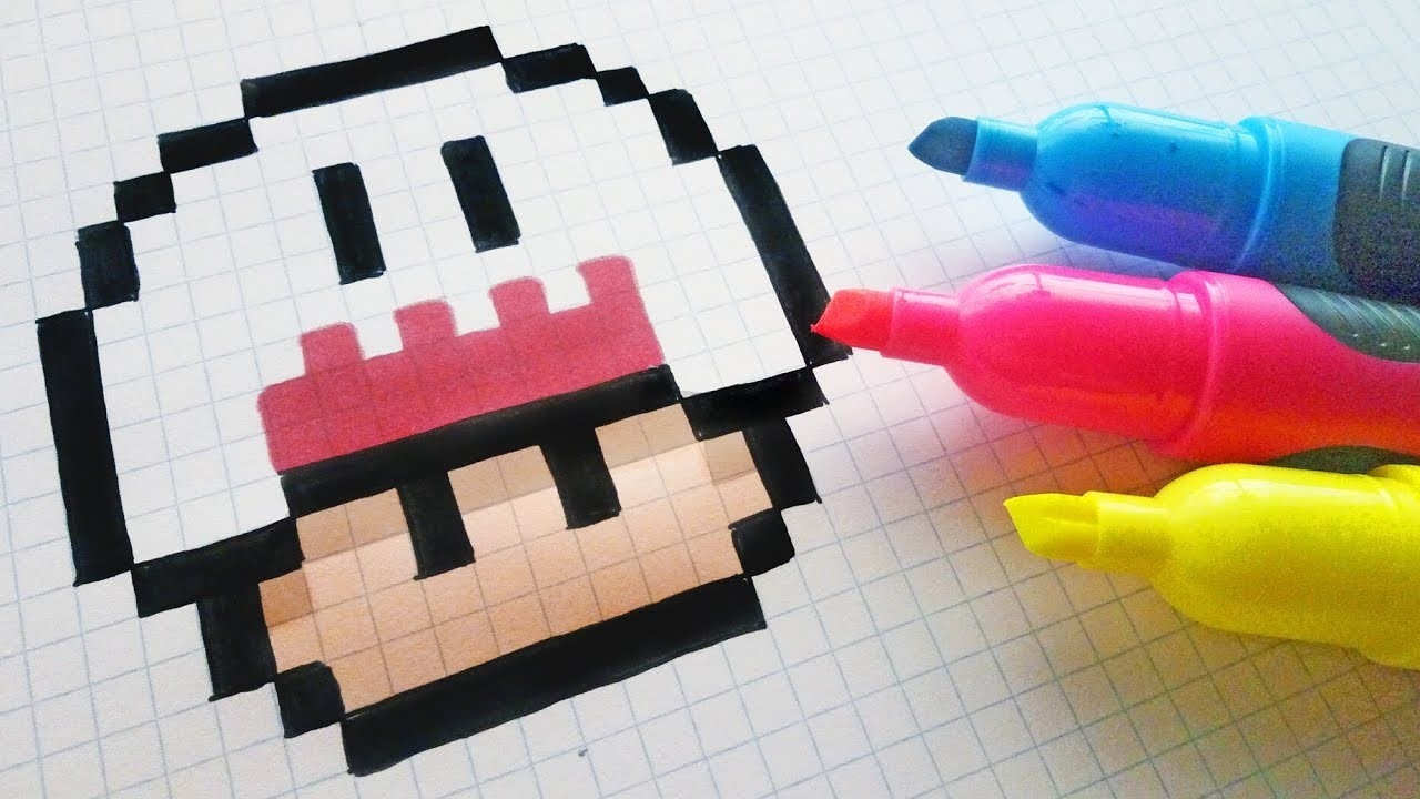 Handmade Pixel Art How To Draw Kawaii Ghost Mushroom