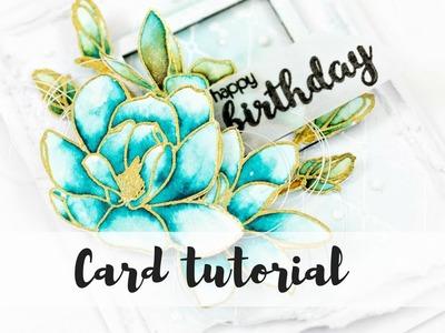 Happy Birthday card | Mixed media card tutorial