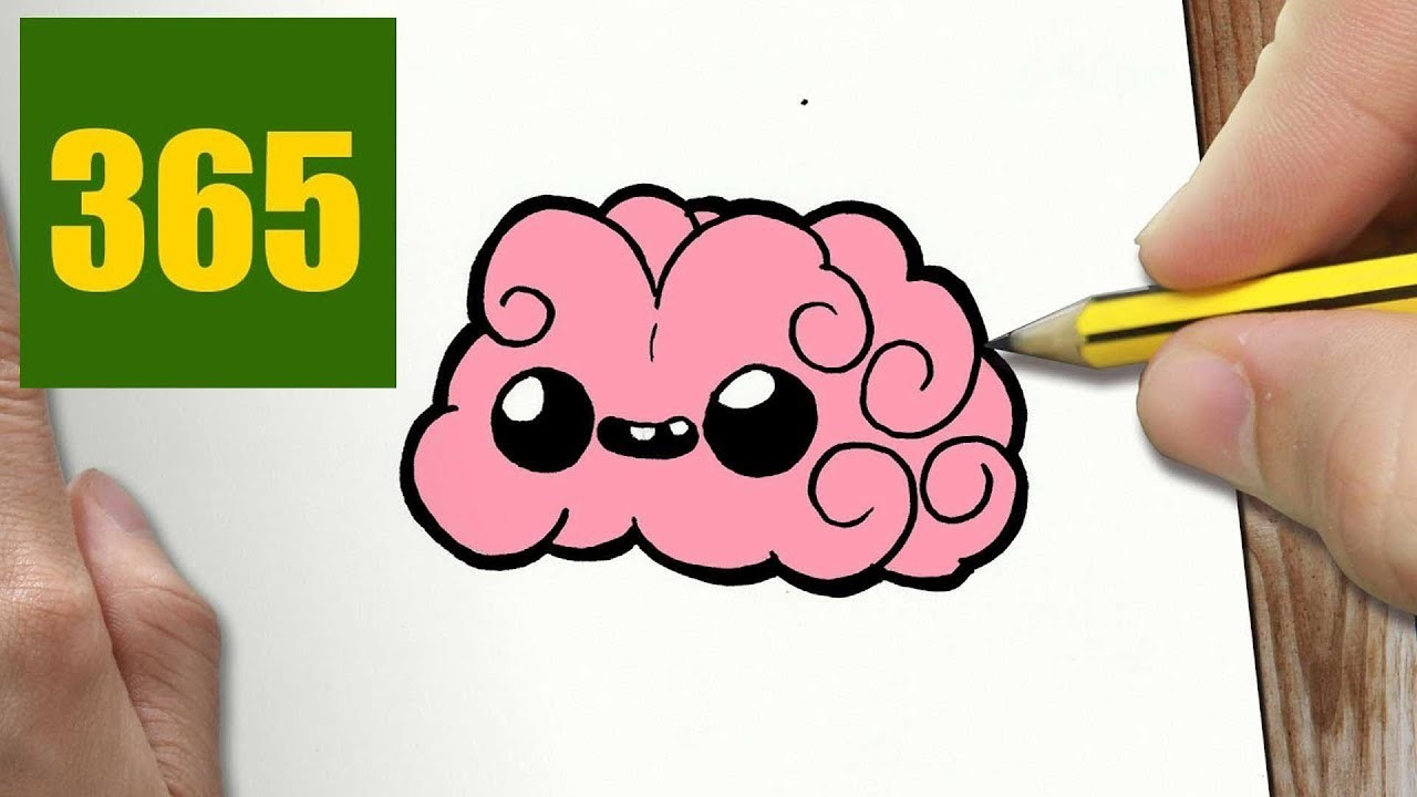 How To Draw A Brain Cute Easy Step By Step Drawing Lessons For Kids