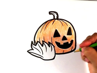 How to Draw a Halloween Jack - O - Lantern - Easy Pictures to Draw