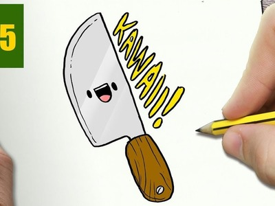 knife drawing easy