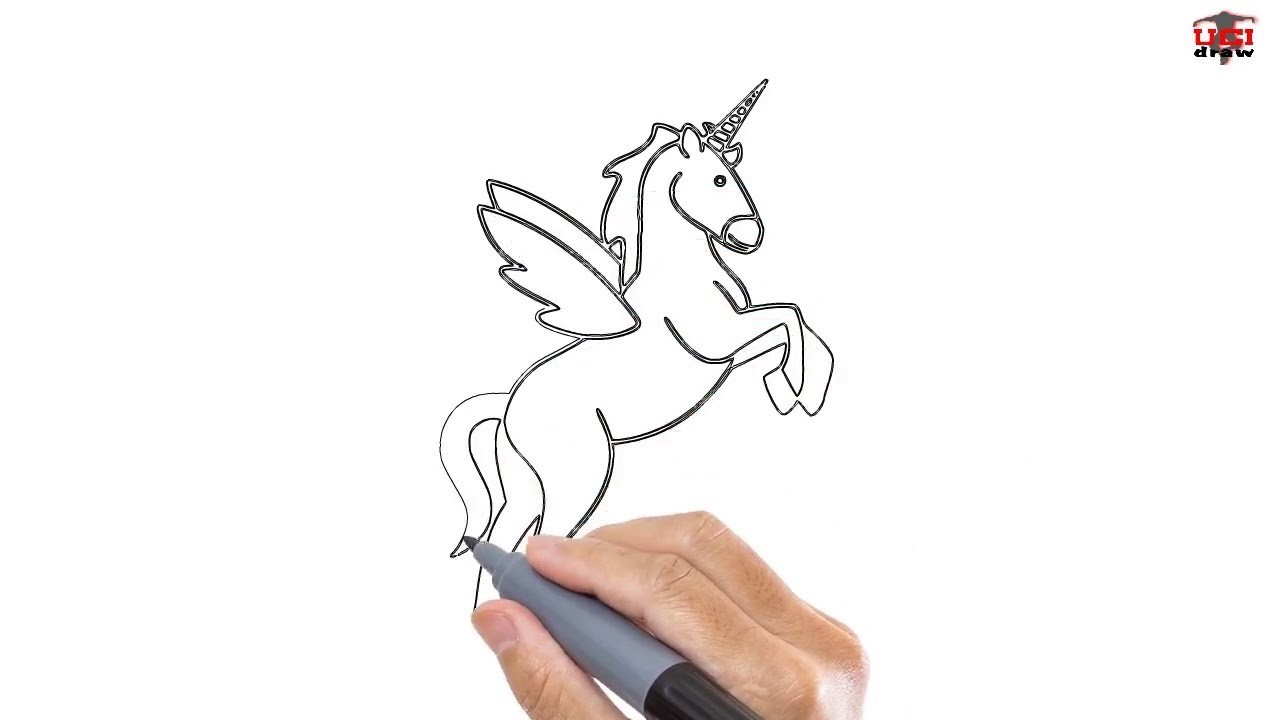 How To Draw A Unicorn Easy Step By Step Drawing Tutorials For Kids